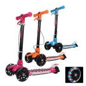 3 Wheel Scooter Folding Flashing Wheel Tri-Scooter Sports Toy for Toddlers Children Boys Girls