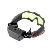 Green Lens Adjustable Elastic Band Night Vision Goggles Glasses Eyeshield,black and green