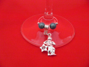 Silver Plated Aquarius Zodiac Sign Wine Glass Charm by Libby's Market Place