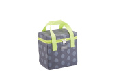 KitchenCraft Small Lunch Cool Bag, 4.9 L ( 3.8l - Spotty Grey / Lime