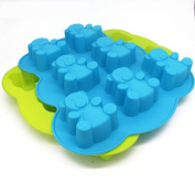 Selecto Bake - 7 Cavity Teddy Bear Cake Chocolate Candy Ice Cube Silicone Mould