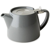 Forlife Stump Teapot with Infuser 530ml (Grey) plus a sample of Mystic Brew's Loose Leaf Tea.