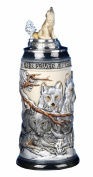 German Beer Stein the power of the Wolf Pack Relief Stein 0.5 litre tankard, beer mug KI 955-RUW 0,5L