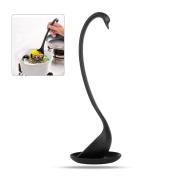 HanDingSM Soup Ladle Elegant Swan Long Handle kitchen Soup Spoon with Saucer