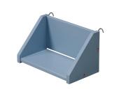 "Design Vicenza ""Tollo"" Small Clip On Shelf, Wood, Baby Blue"