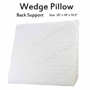 New Orthopaedic Bed Wedge Pillow with Quilted Cover Reflux Foam Support Pillow