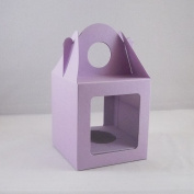 10 x Medium Lilac Single Cupcake / Muffin / Fairy Cake Boxes With 2 Windows