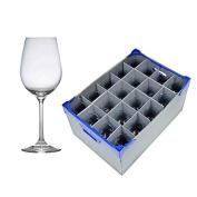 20 x Large Gusto Premium Wine Glasses, 45cl / 470ml and 1 x Glassjack - Glassware Storage Box | Catering Quality Glassware by Genware