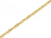 """F.Hinds 9ct Yellow Gold 1mm Wide Singapore Chain 18"""" inch Necklace Jewellery Women"""