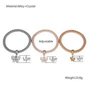 3Pcs Luxury Bracelet Gold Silver Rose Gold Rhinestone Bangle Jewellery