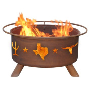 Patina Products Classic Lone Star Steel Wood Burning Fire pit