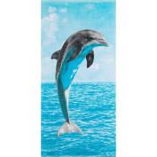 Safdie & Co. Beach Towel 28 X 58 Jumping Dolphin, Multi Colour, 80cm x 150cm