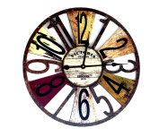 60 cm Large Wooden Wall Clock Antique Style Retro Home Hotel Bar Office Decor Gift Idea