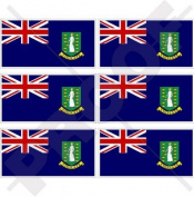 "BRITISH VIRGIN ISLANDS Flag 40mm (1,6"") Mobile, Cell Phone Vinyl Mini Stickers, Decals x6"