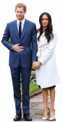 STAR CUTOUTS LTD Royal Couple Prince Harry and Meghan Markle (Star-Mini), cardboard, Multi Colour, 91 x 5 x 42 cm