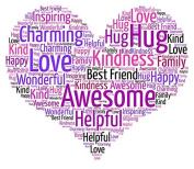 Personalised Love Heart A4 Print Word Art Gift Mothers Day, Teacher, Mom, Mum, Best Friend, Wedding, Bridesmaid, New Home, Birthday, Celebration, Keepsake, Nan, Gran, Daughter, Boyfriend, Girlfriend, Valentines Day, Anniversary, Christmas, Unique, Than ..