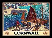 "National Railway Museum ""Cornwall (9)"" Framed Print, Multi-Colour, 30 x 40 cm"