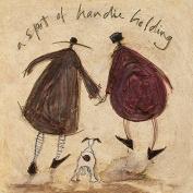 """Sam Toft """"A Spot Of Handie Holding"""" Canvas Print, Cotton, Multi-Colour, 1.80 x 30.00 x 30.00 cm"""