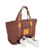 Malirona Canvas Large Sports Duffels Bag Gym Clothing Clothes Beach Bag with Shoulder Handbag