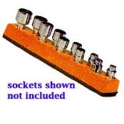 Mechanics Time Saver 484 1/4 in. Dr Univ Magnetic Orange Socket Holder 5-14mm