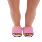 46cm Doll Shoes Doll Accessories Mingfa Bunny Plush Slippers Pearl Dress Shoe for Our Generation American Girl Doll