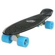60cm Cruiser Skateboard for Kids & Adult, 4 Wheels Outdoor Plastic Skate Board