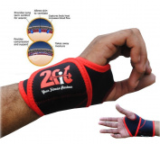 2Fit Neoprene Thumb Brace Splint Wrist Support Wraps GYM Crossfit Training Sports Pain Injury Relief Strap Pair