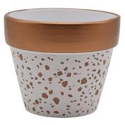 Living & Co Pot With Copper Foil Terrazzo Pattern 15cm 15cm