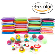 Anyumocz 36 Colours Air Dry Clay Moulding Craft Clay - Clay Set for Kids with Tools