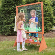 Double Sided Indoor/Outdoor Plexiglass Art Easel (21 x 90cm x 130cm ) - Easy to Clean, Kids Can Draw or Paint From Both Sides
