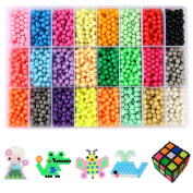 Water Sticky Beads,ITOY & IGAME 24 Colour DIY Water Sticky Beads Water Magic Bean with Whole Set Accessories Fuse Beads Building Blocks Creative Educational Building DIY Toys Learning Toys for Kids