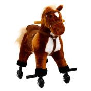 Peach Tree Kids Girls Boys Walking Pony Ride on Horse Rocking Toy Neigh Sound w/Wheels
