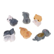 HuntGold 6x DIY Craft Cat For Fairy Garden Ornament Miniature Figurine Dollhouse Decor