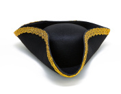 Dazzling Toys Colonial Tricorn Revolutionary War - Pirate Hat 1 Per Pack