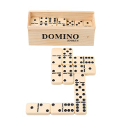 Double 6 Dominoes Set for Kids in Home or School-Melamine Table Game Tiles With Spinner