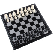 Amerous 25cm x 25cm Travel Magnetic International Chess Set with Folding Chess Board