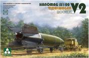TAK02110 1:35 Takom WW2 German V-2 Rocket Transporter Hanomag SS100 Vidalwagen V2 Rocket [MODEL BUILDING KIT]