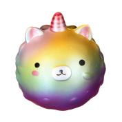 TEEGOMO Kawaii 11cm Colourful Unicorn Bear Princess Slow Rising Scented Jumbo Squishy Squeeze Squishies Toys and gifts