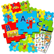 Sesame Street Giant Floor Puzzle for Kids -- 0.9m Foam Puzzle with Bonus Sesame Street Stickers