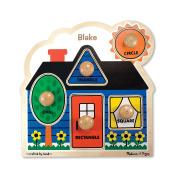 Melissa & Doug Personalised First Shapes Jumbo Knob Wooden Puzzle