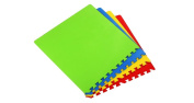 """Kids Playing Jumbo Foam Mats With Connecting Borders, Puzzle for Children and Yoga Squares, Fitness Boards, 25""""x25"""""""