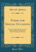 Forms for Special Occasions