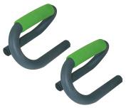 Schildkrot Fitness Unisex Adult Push-Up 2-piece Bar - Green/Anthracite, Medium