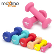 Neoprene Dumbell Weights (Pair) - 0.5kg, 1kg, 2kg, 3kg, 4kg, 5kg - Perfect Hand Weights for Strength Building, Muscle Toning, Home Gym and Rehabilitation - Ideal for Men and Women.