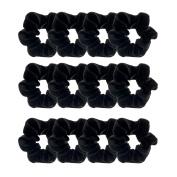 Whale 12 Pieces Hair Scrunchies Velvet Elastics Scrunchy Bobbles Soft Hair Bands Hair Ties