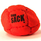"Sam Sack -Series 3- ""Cherry Bomb"" Footbag 14 Panel-Pellet Fill"