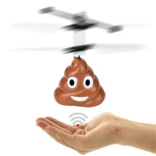Flying Poop Ball, Staron Kids Fun Hovering Toys Mini Induction Suspension RC Aircraft Christmas Gift Mini Flying Toy