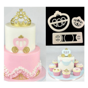 Lalang 3pcs Princess Carriage Cookie Cutter DIY Fondant Cake Mould Decorating Tool Kitchen Cooking Accessories