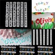Bodhi2000 6pcs Alphabet Letter Number Cutter Tools Cake Decoration Fondant Sugarcraft Tool