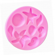 Skyeye 1 Pcs Sugar Cookie Cutters Mould Seashell Starfish Design Silicone Mould Fondant DIY Cake Mould